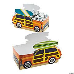 Cardboard Surf's Up Favor Boxes