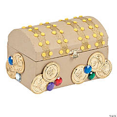 Cardboard Treasure Chest Craft Kit