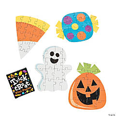Cardboard Trick-or-Treat Mini Jigsaw Puzzles