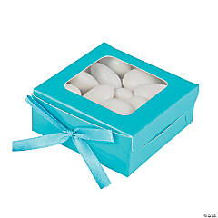 Cardboard Turquoise Favor Shadow Boxes