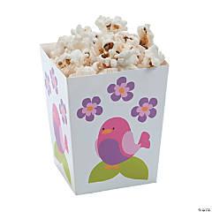 Cardboard Tweet 1st Birthday Popcorn Boxes