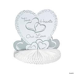 Cardboard Two Hearts Wedding Centerpiece