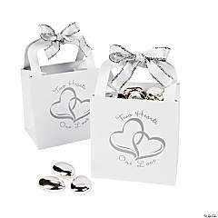 Cardboard Two Hearts Wedding Favor Gift Baskets