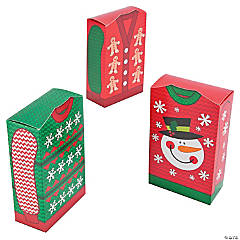 Cardboard Ugly Sweater Favor Boxes