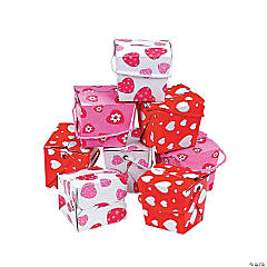 Cardboard Valentine Boxes with Rope Handles