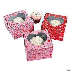 Cardboard Valentine's Day Cupcake Boxes