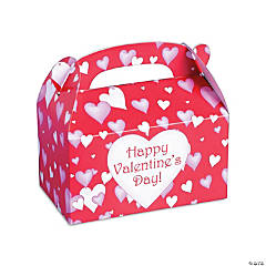 Cardboard Valentine's Day Treat Boxes