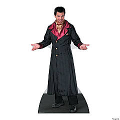 Cardboard Vampire Coat Stand-Up