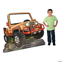 Cardboard Walk His Way Jeep Stand-Up