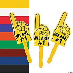 Cardboard We're #1 Finger Fans