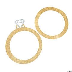 Cardboard Wedding Ring Frame Cutouts