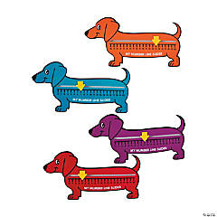 Cardboard Wiener Dog Number Line Sliders