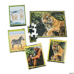 Cardboard Wildlife Animal Puzzles