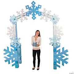 Cardboard Winter Wonderland Arch