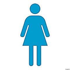 Cardboard Woman Symbol Stand-Up