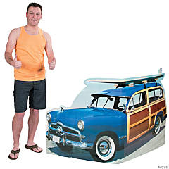 Cardboard Woody with Surfboard Stand-Up