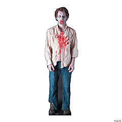 Cardboard Zombie Guy Stand-Up