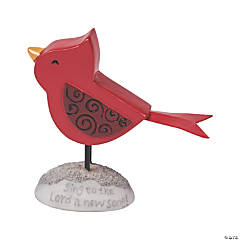 Cardinal Figurine with Message