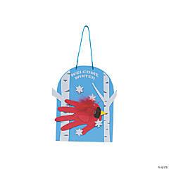 Cardinal Handprint Winter Sign Craft Kit