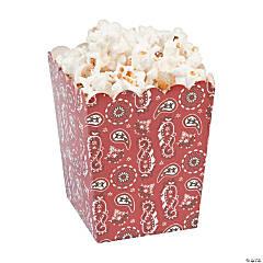Cardstock Bandana Print Popcorn Boxes