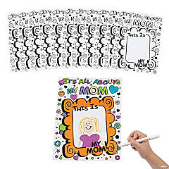"Cardstock Color Your Own ""It's All About My Mom"" Giant Mother's Day Cards"