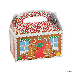 Cardstock Gingerbread House Treat Boxes