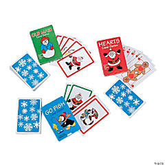 Cardstock Holiday Playing Cards Assortment PDQ