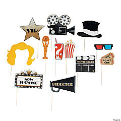 Cardstock Movie Night Photo Stick Props