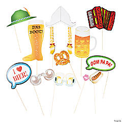 Cardstock Oktoberfest Photo Stick Props
