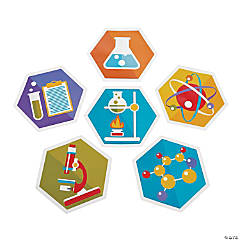 Cardstock Science Party Wall Cutouts