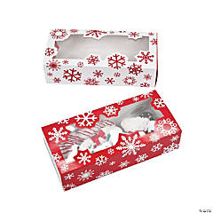 Cardstock Snowflake Cookie Boxes