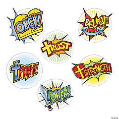 Cardstock Superhero Faith Mini Cutouts