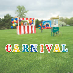 Carnival Letters Yard Sign