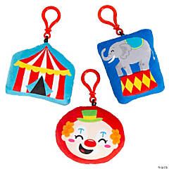 Carnival Plush Backpack Clip Keychains