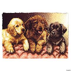Caron Latch Hook Kit - Lab Puppies