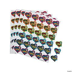 Carson-Dellosa® Dazzle Jesus Loves Me Sticker Sheets