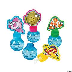Cartoon Tropical Fish Round Bubble Bottles
