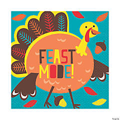 Cartoon Turkey Luncheon Napkins