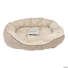"Carved Plush Cuddler Step-In Bed 32""X25""X9""-Tan"