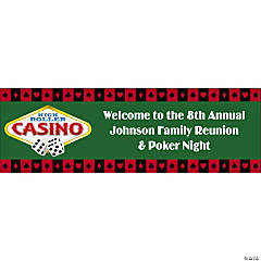 Casino & Poker Night Party Custom Banner - Small
