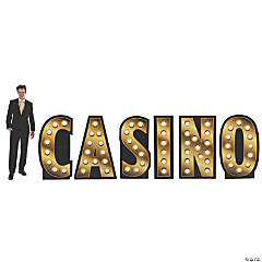Casino Marquee Light Cardboard Stand-Up Letters