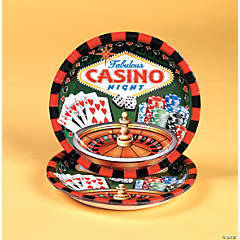 Casino Night Dinner Plates - 8 Pc.