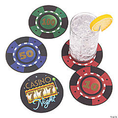 Casino Night Disposable Coasters