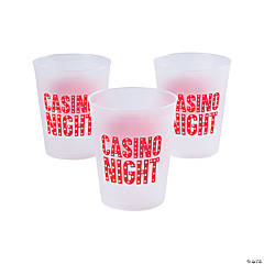 Casino Night Frosted Plastic Cups