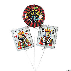 Casino Night Mylar Balloon Set