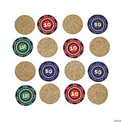 Casino Night Poker Chip Confetti