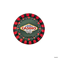 Casino Paper Dessert Plates - 8 Ct.