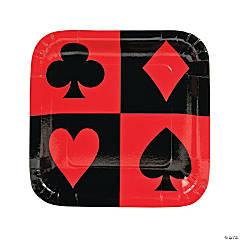 Casino Paper Dinner Plates - 8 Ct.