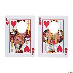 Casino Playing Card Face Cutouts - 2 Pc.