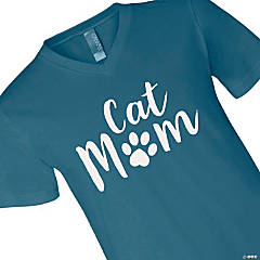 Cat Mom Adult's T-Shirt - 2XL